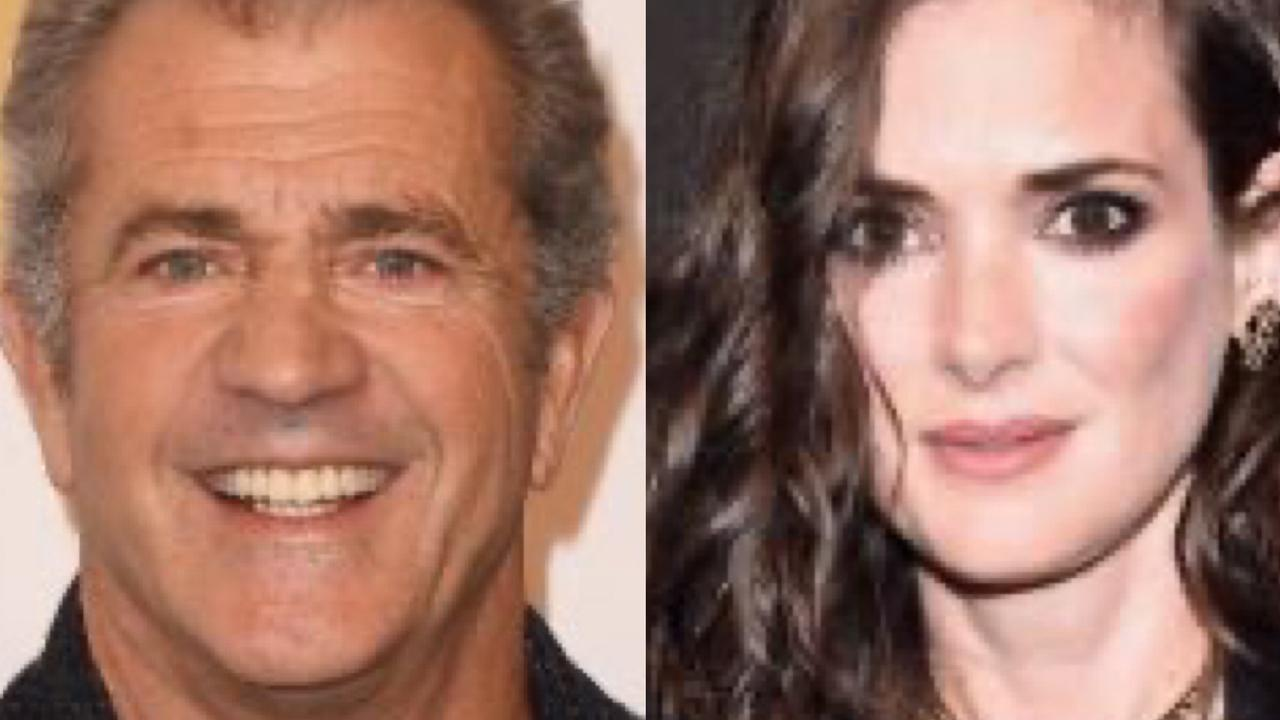 Mel Gibson and Winona Ryder. Picture: Getty Images.