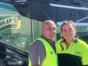 Ashlea learns the ropes to family's trucking business