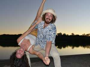 Couple jump and jive through a life of love