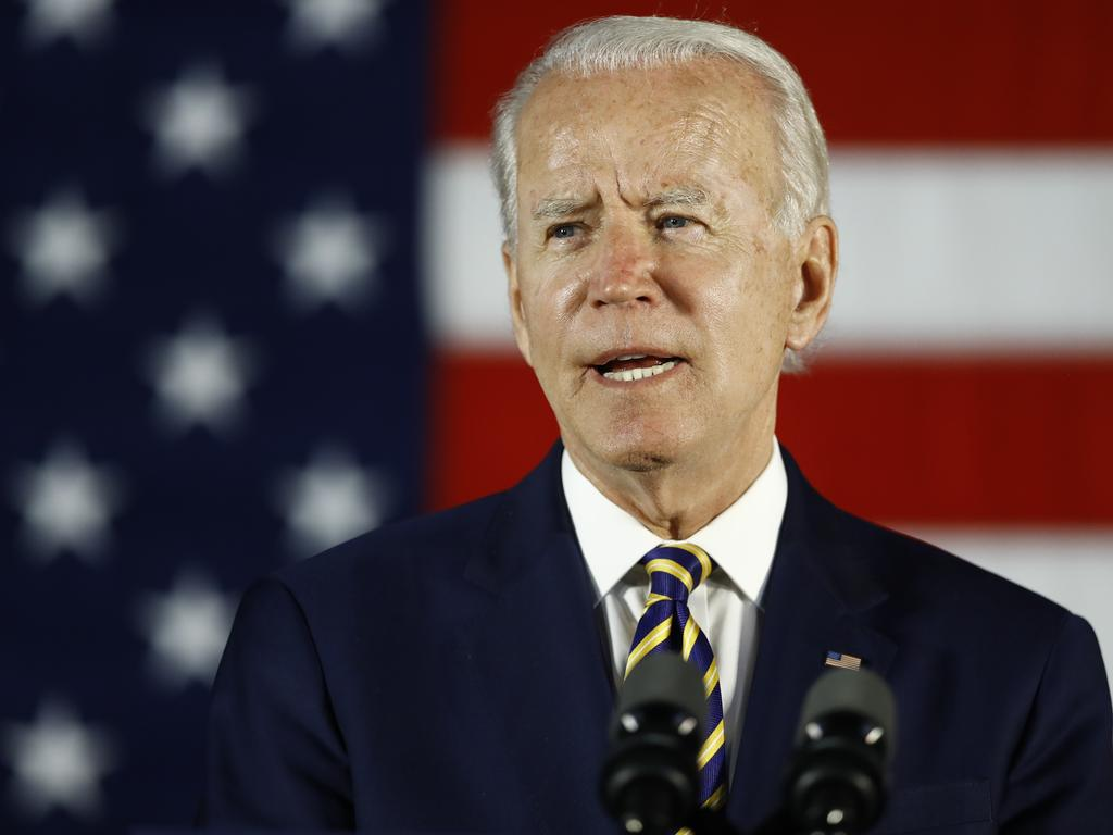 "Former PM Kevin Rudd has said it was ""critical"" for US Democratic presidential candidate Joe Biden to defeat US President Donald Trump because the next four years were the ""last chance saloon"" for US global leadership. Picture: Matt Slocum/AP"