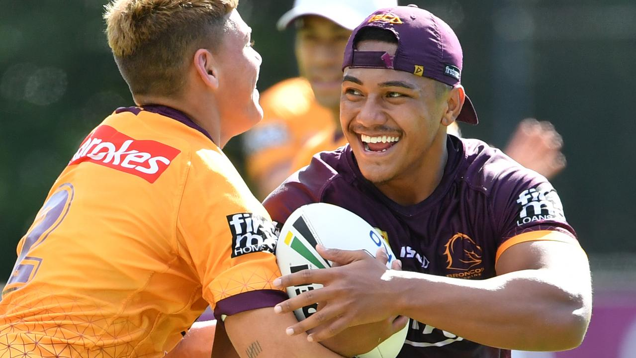 Broncos young gun Tesi Niu is in high demand. Picture: Darren England/AAP