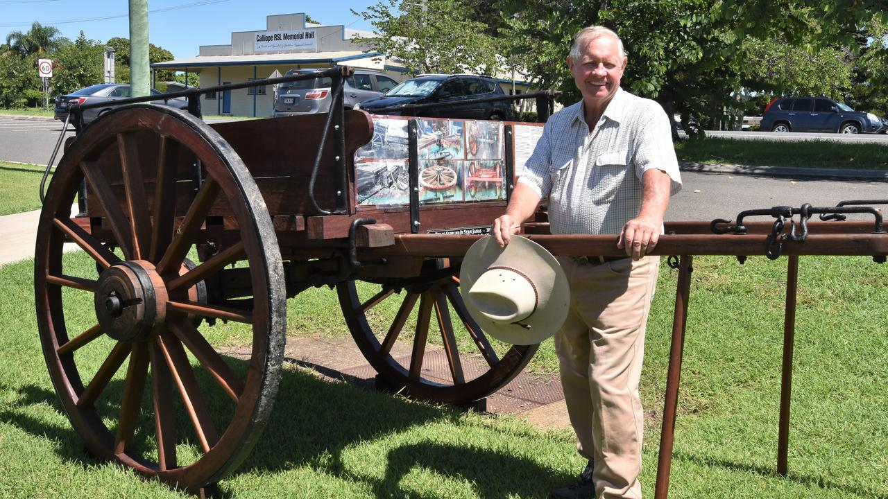 Rodney Hammond gave a new life to an old wagon and donated it to Ubobo as part of centenary celebrations. Photo: Sam Reynolds