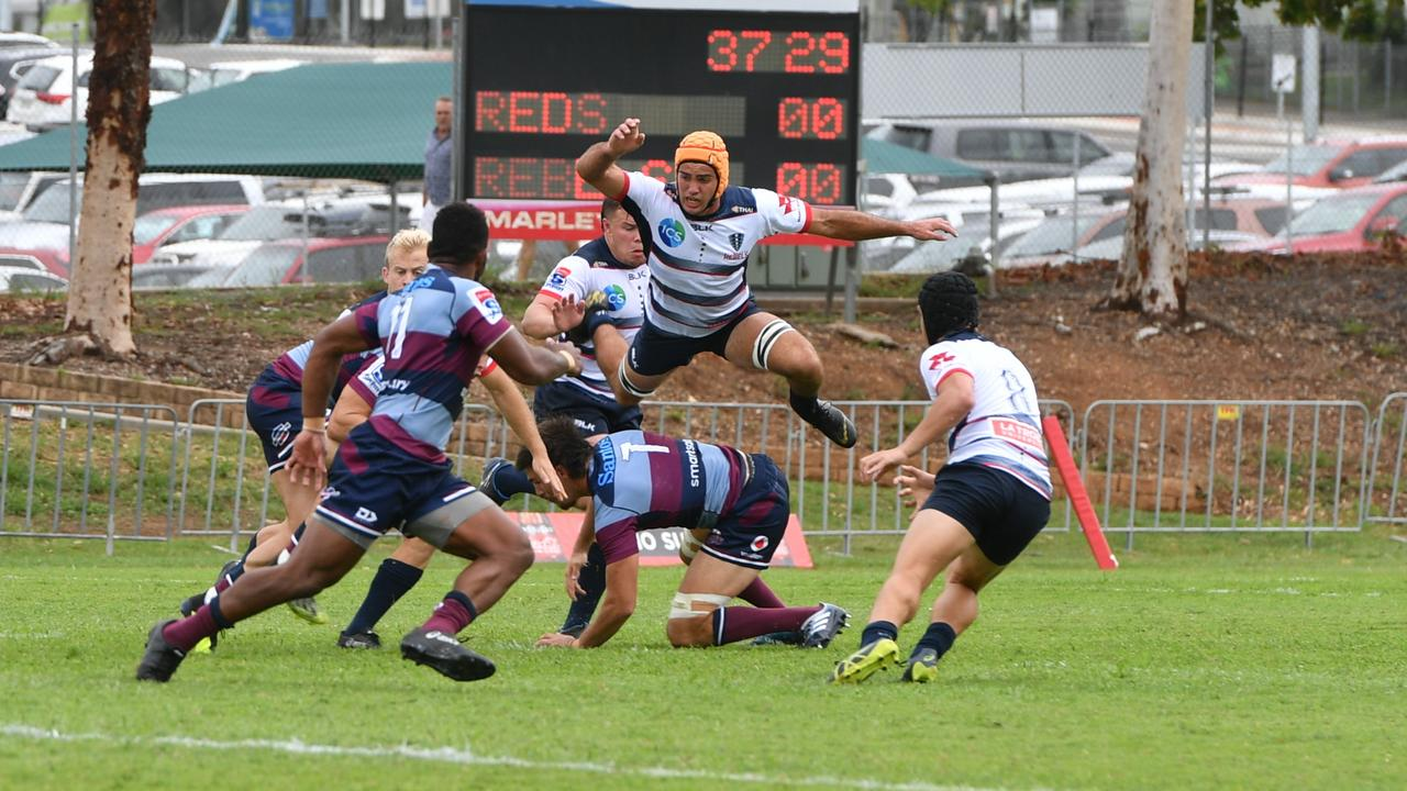 Qld Reds vs. Melbourne Rebels at Marley Brown Oval in January. Photo: Sam Reynolds