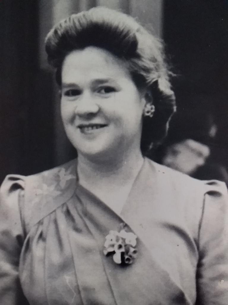 Gwen Kippen in the 1940s.
