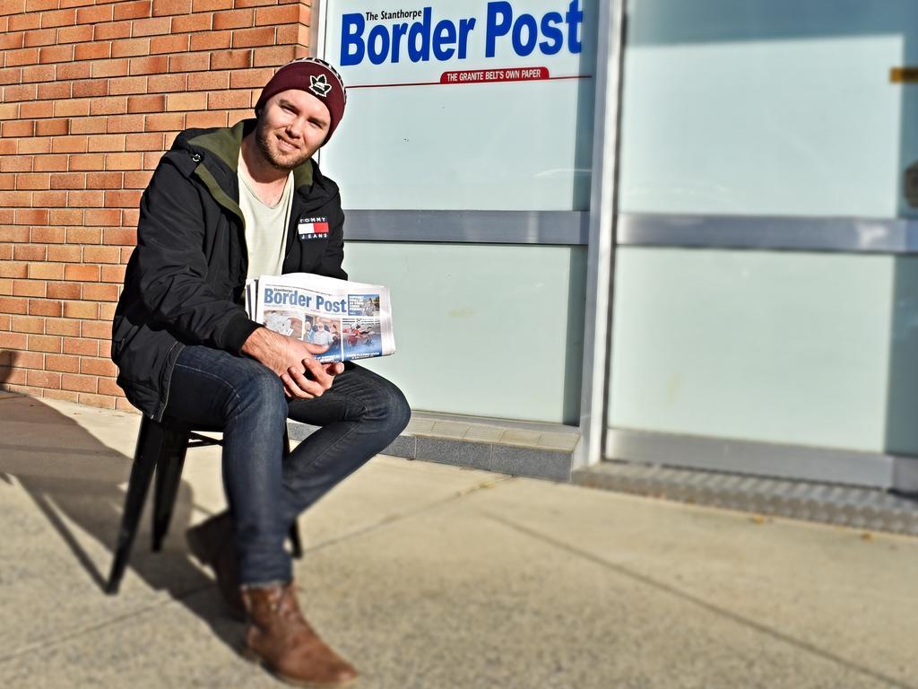 Border Post journalist Matthew Purcell bids farewell. Picture: Sandra McEwan