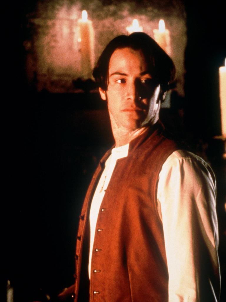 Keanu Reeves in Dracula.