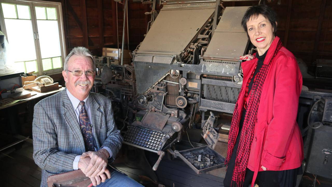 Siblings Peter and Linda Gibson, grandchildren of Vera Gibson, founder of Central Queensland News.