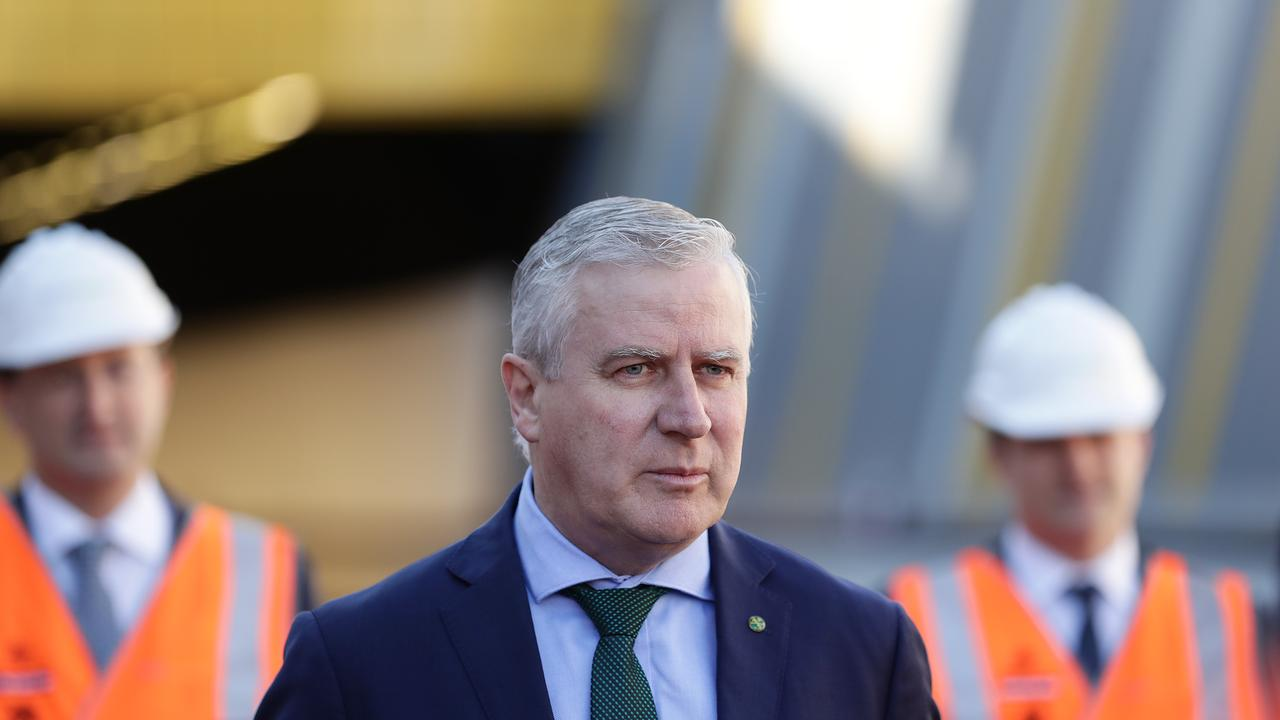 PANEL NAMED: Deputy Prime Minister, Michael McCormack talks to media after touring the NorthConnex tunnel in Sydney. (Photo by Mark Metcalfe/Getty Images)