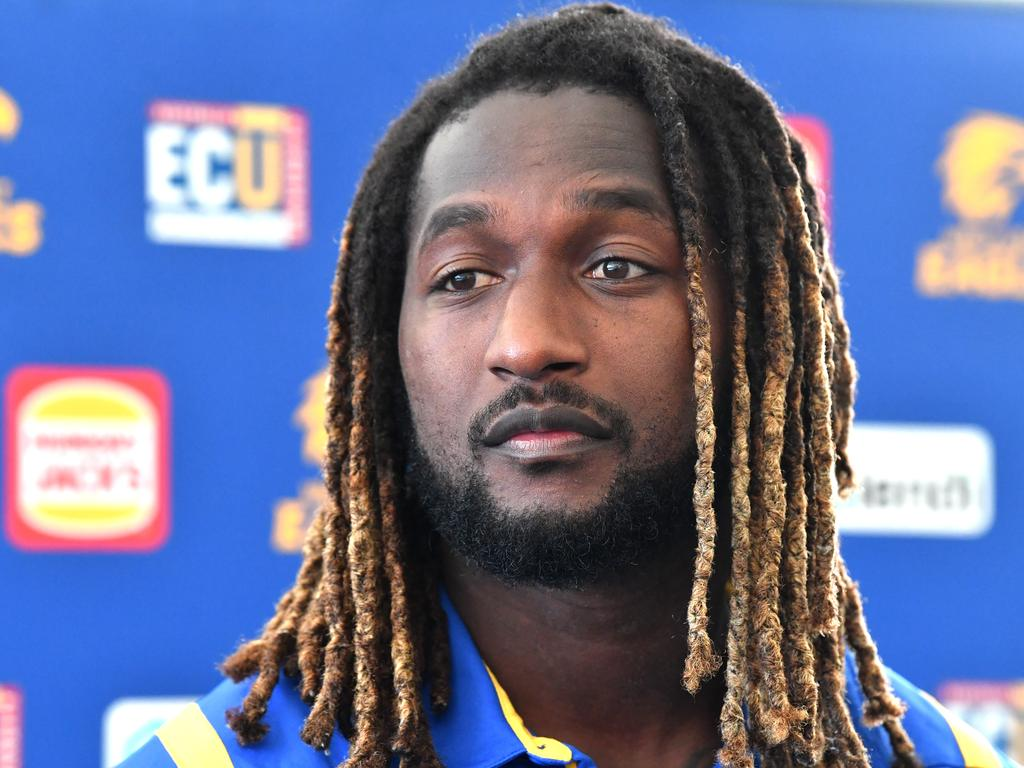 Nic Naitanui spoke to reporters on Wednesday.