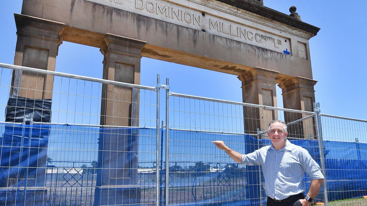 Chris Moore - owner of the old flour mill site on Kent St in Maryborough.