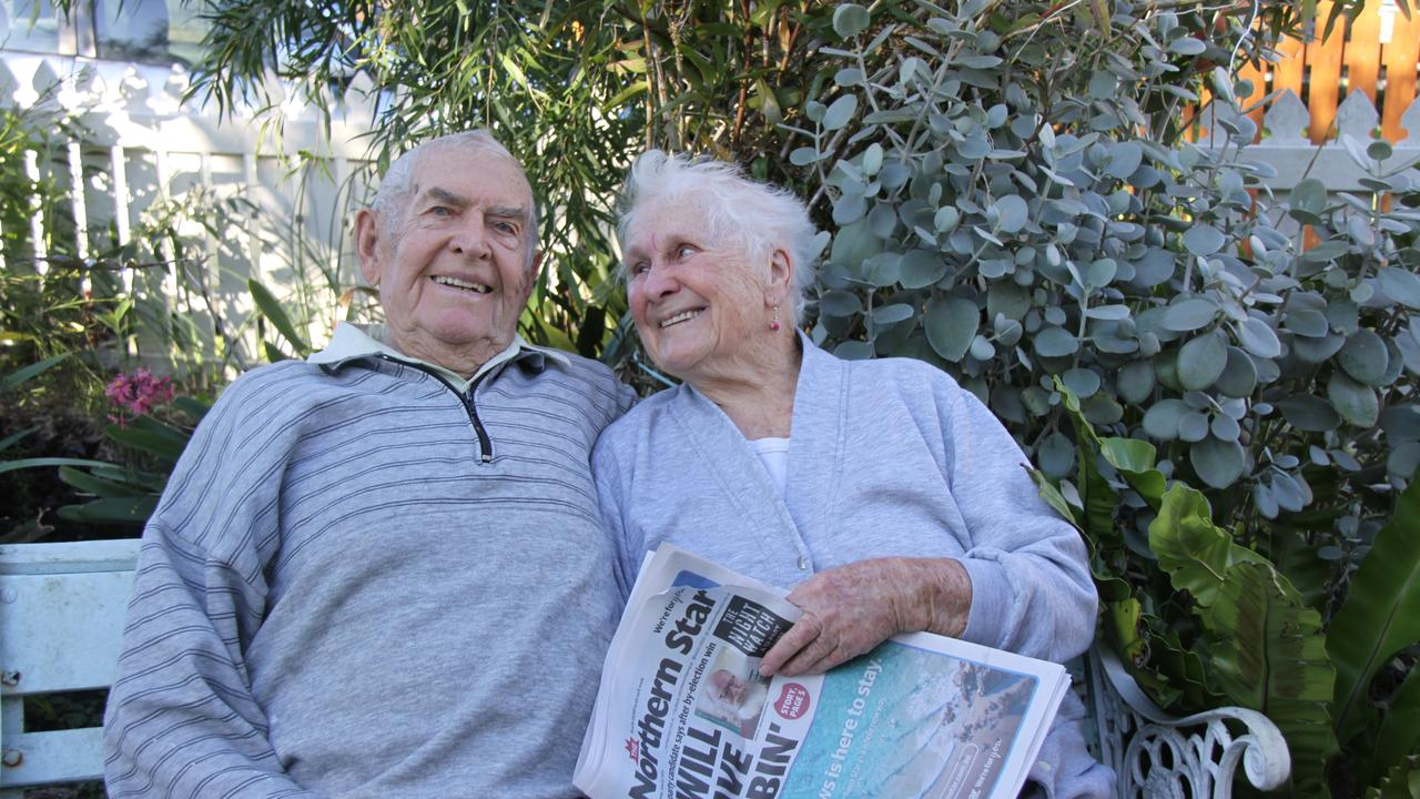 YOU WILL BE MISSED: Lismore couple Charlie and Dorothy Cox have been reading the Northern Star each day for more than 68 years and said they will very much miss the ritual of catching up on local news over breakfast. Photo: Alison Paterson