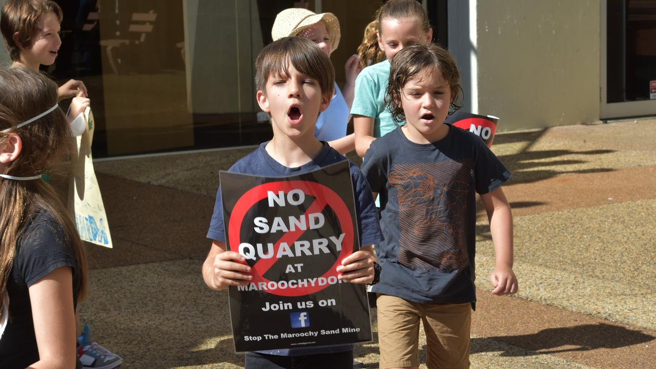 Sand mine opponents attend the Nambour Council Chambers.