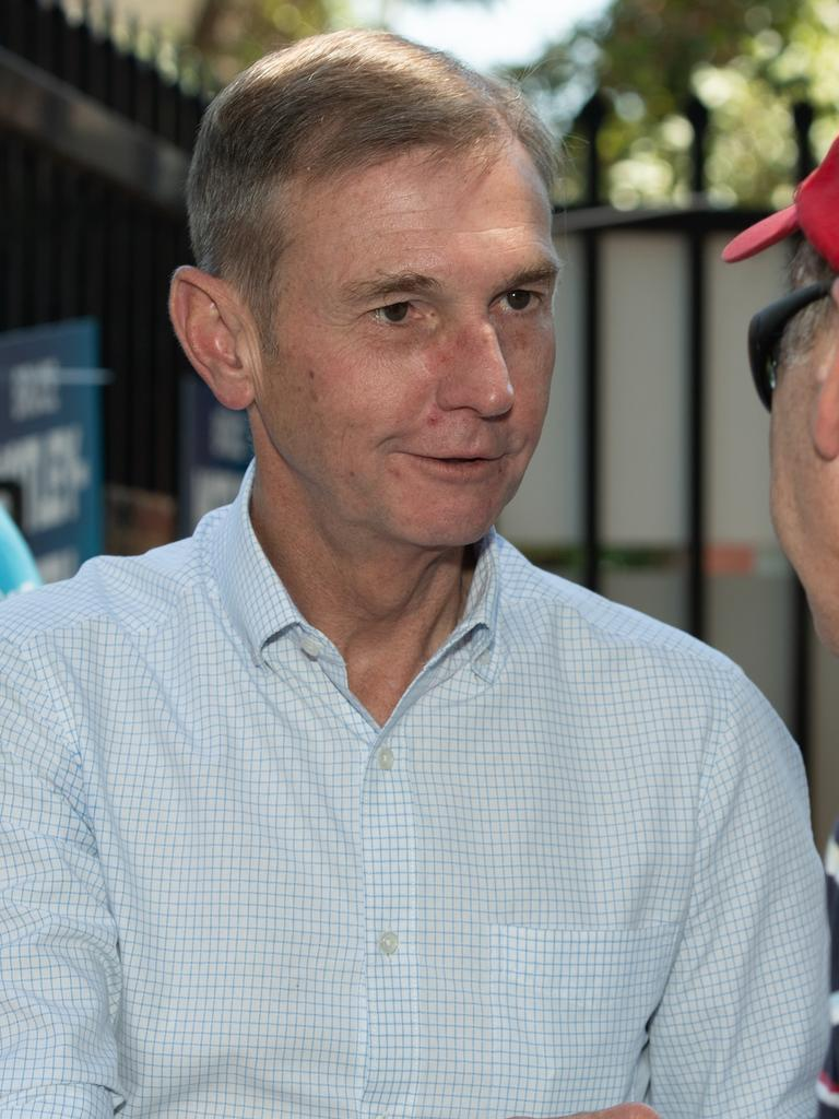 There are rumours that Mr Harwin is making the changes to bring his friend Bruce Notley-Smith back to parliament. Picture: AAP Image/Monique Harmer