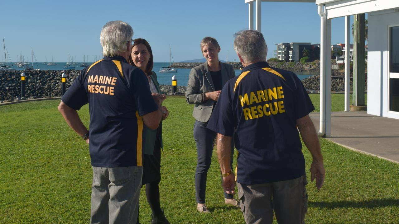 LNP leader Deb Frecklington and Whitsunday candidate Amanda Camm met with the Whitsundays Volunteer Marine Rescue Service as part of their two day stint to learn more about the pain points for local residents and business owners in the wake of COVID-19.