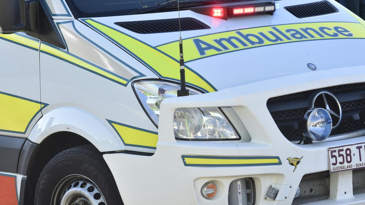 Crews from QAS are currently on scene after an incident involving a pedestrian and vehicle occurred.