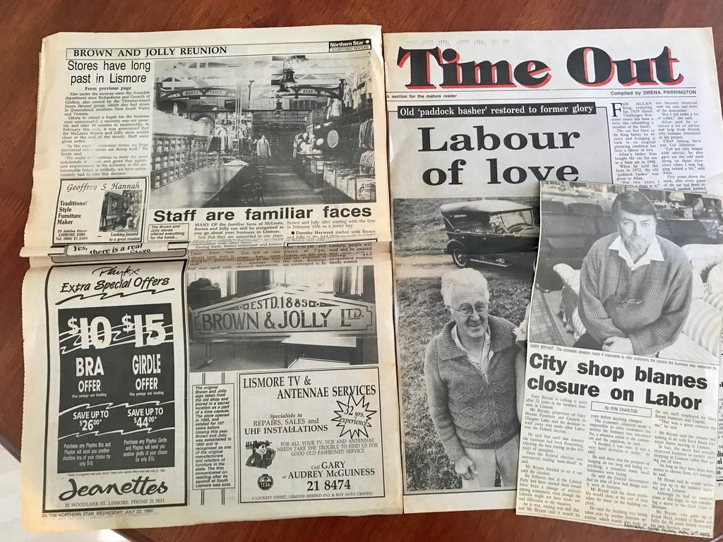 PAPERS: Old copies of the Northern Star from back in the day.