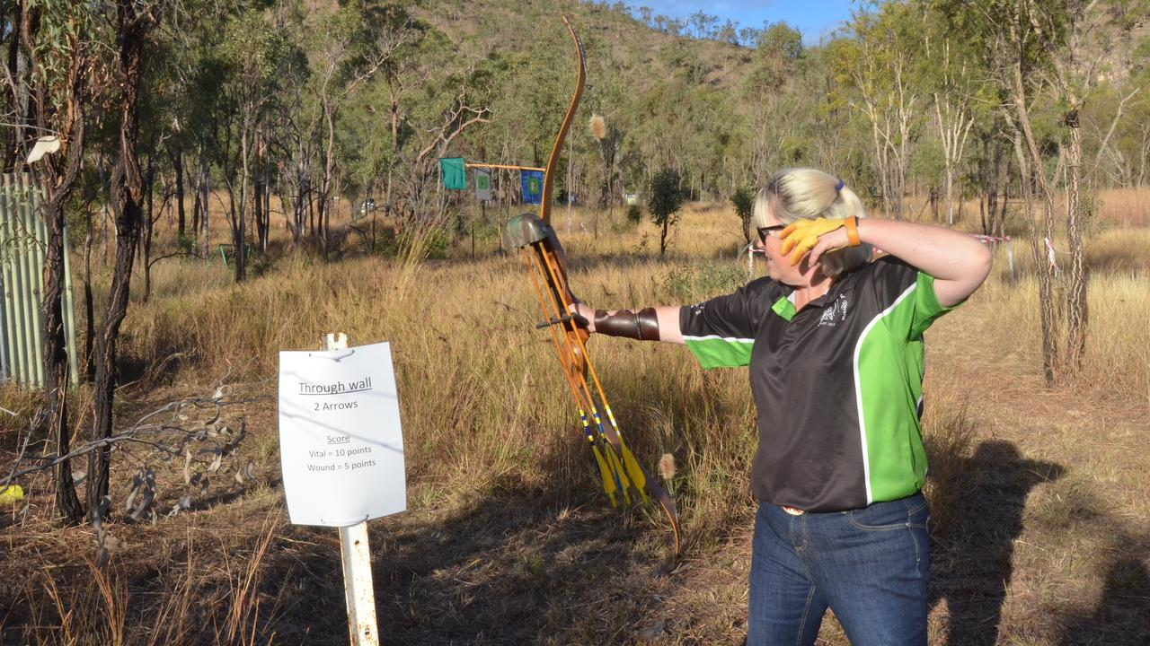 LONG BOW: Gladstone's Zanette Williamson takes aim during the North Burnett Field Archers' traditional weekend in 2019. (Picture: File)