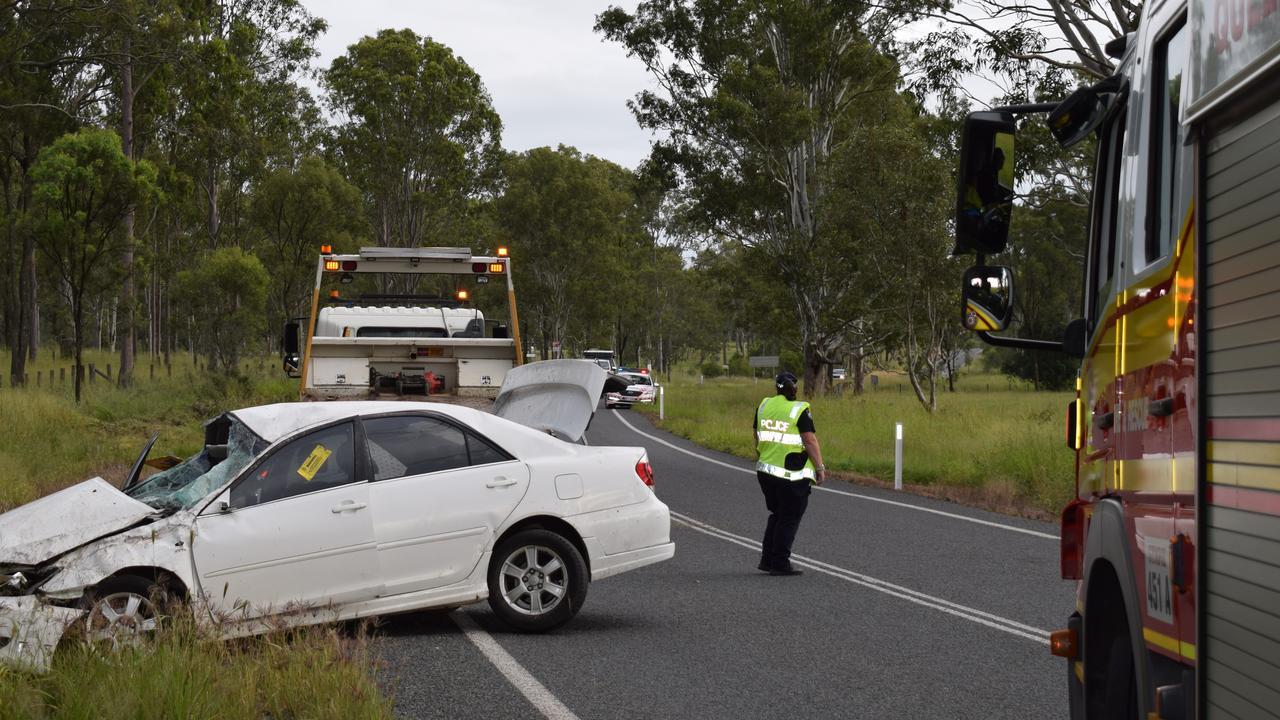 CRASH: Emergency crews attended a single vehicle crash on the Wide Bay Highway at Bells Bridge.