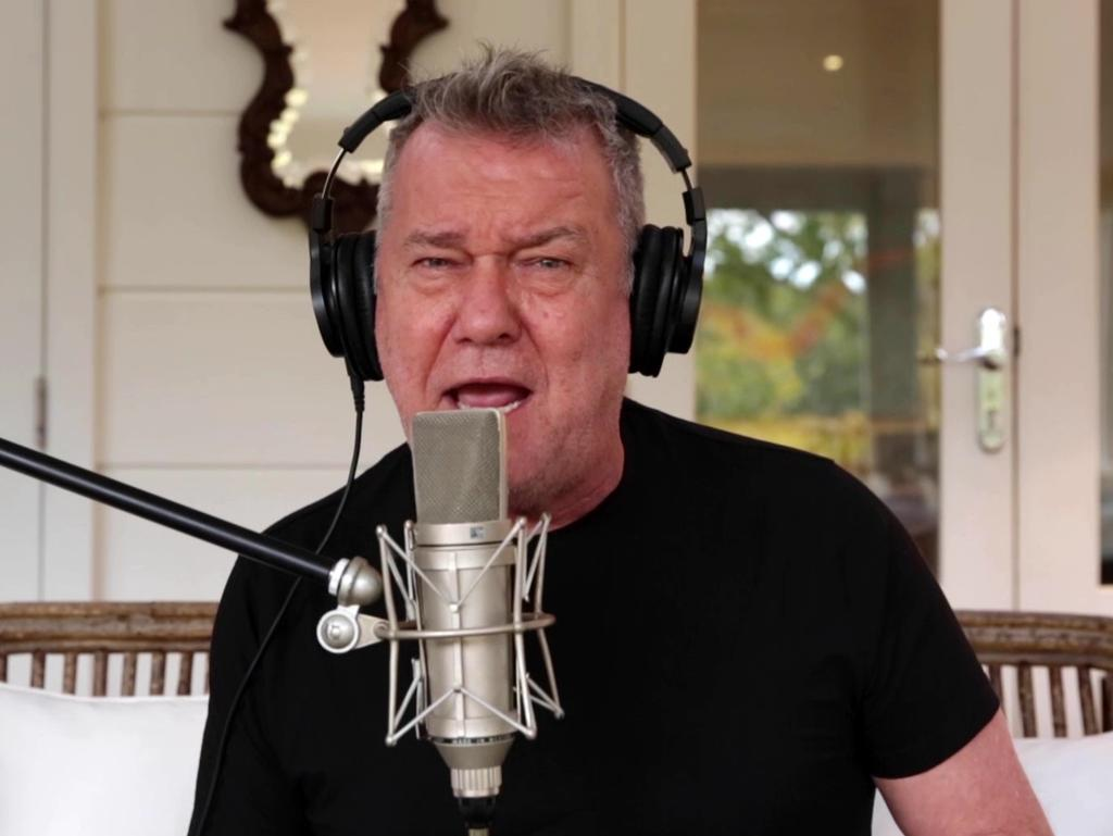 Jimmy Barnes and Diesel's set during the Music From The Home Front Concert, streaming live for Anzac Day 2020, during COVID-19 Isolation regulations. Picture: Channel 9