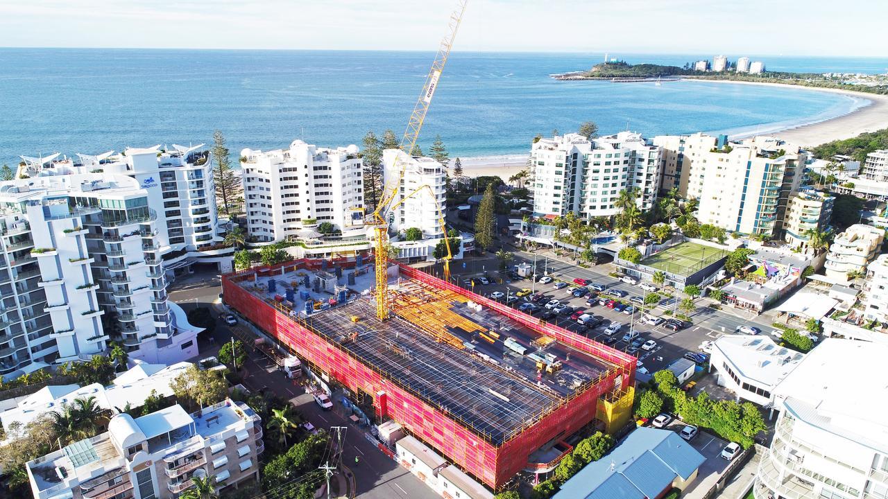 Brisbane Road carpark construction, Mooloolaba. Photo Patrick Woods / Sunshine Coast Daily.