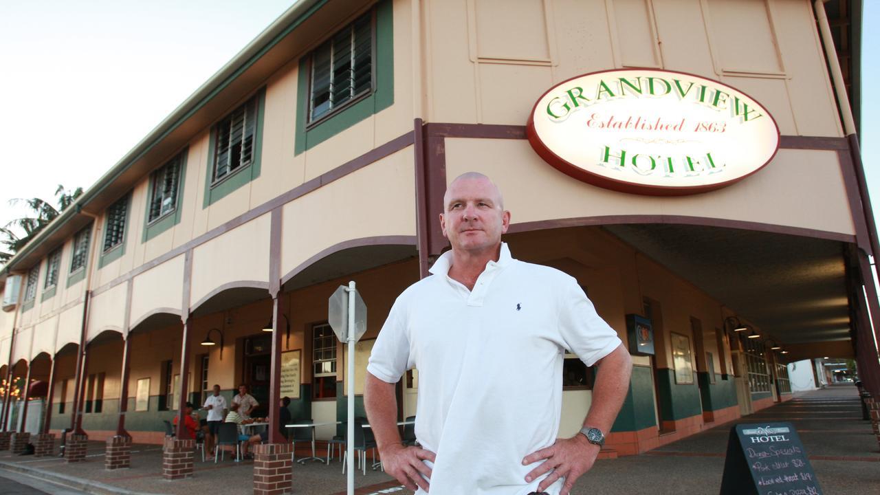 Former Origin player Mike McLean, publican at the Grandview Hotel.