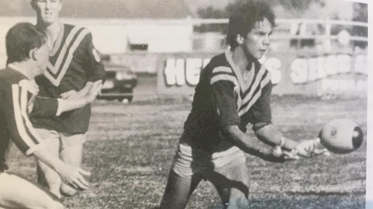 RUGBY LEAGUE LEGEND: Steve Renouf playing for the Murgon Mustangs U17s against Nanango. (Picture: Contributed)