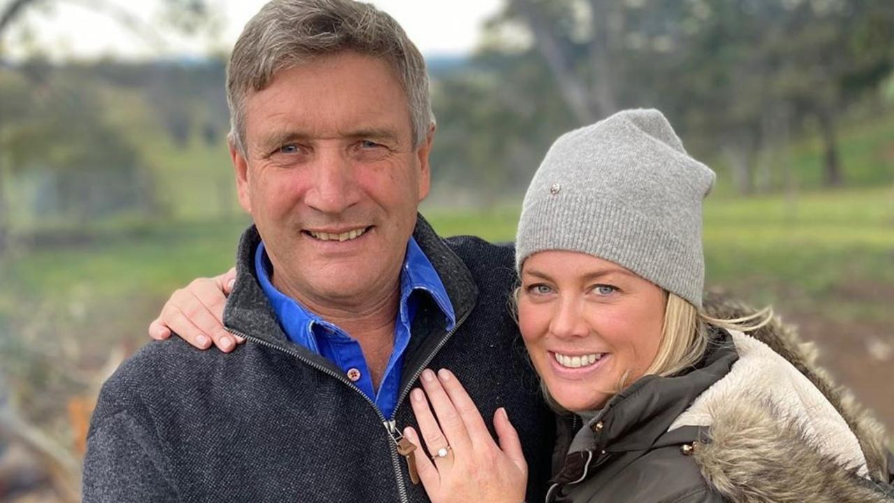 Armytage announced her engagement to Richard Lavender last week. Picture: Instagram