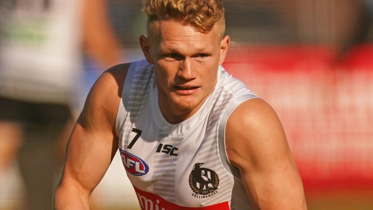 Adam Treloar is closing in on a return for the Magpies. Picture: AAP Images