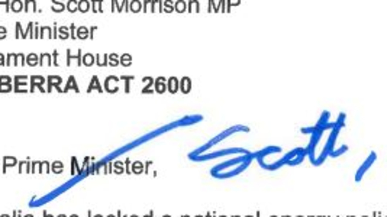 LEtter from Anthony Albanese to PM.