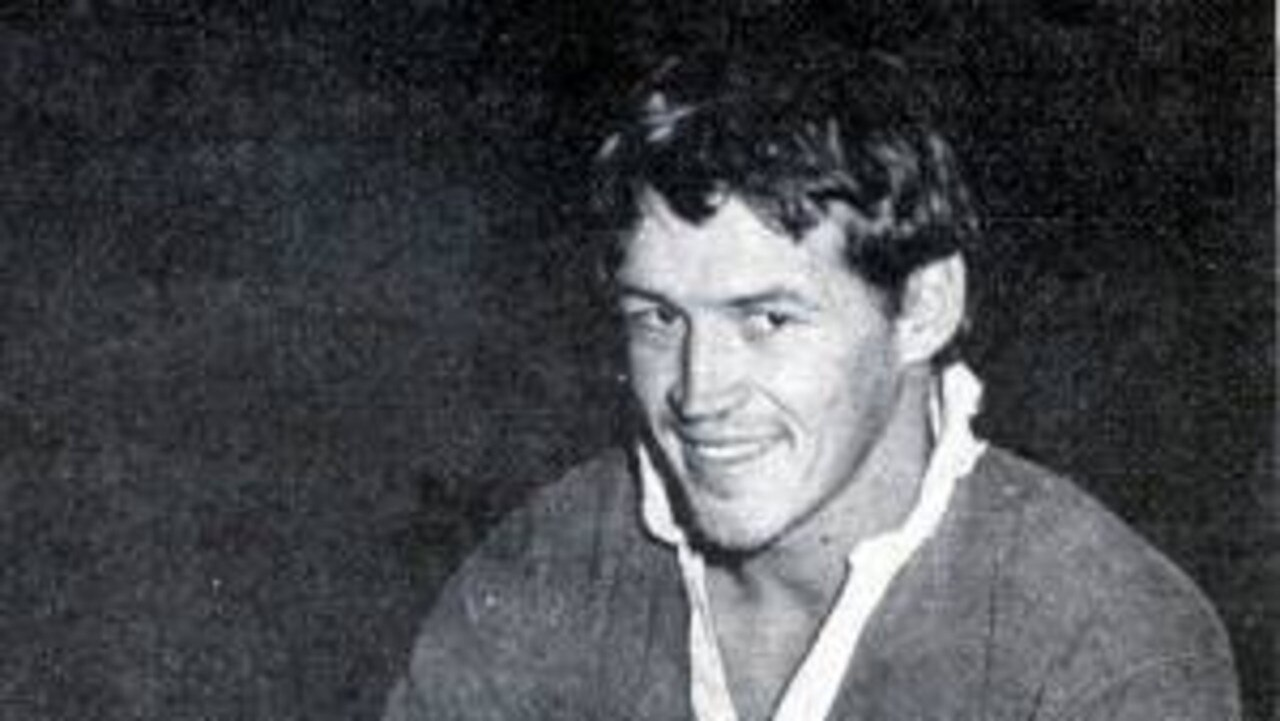 Bowen's Rod Halley during a training session with the Redcliffe Dolphins, the Brisbane Rugby League team he joined in 1972.