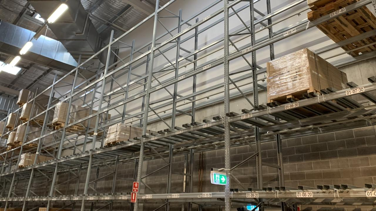 Big gaps in the warehouse too. Picture: Benedict brook/news.com.au