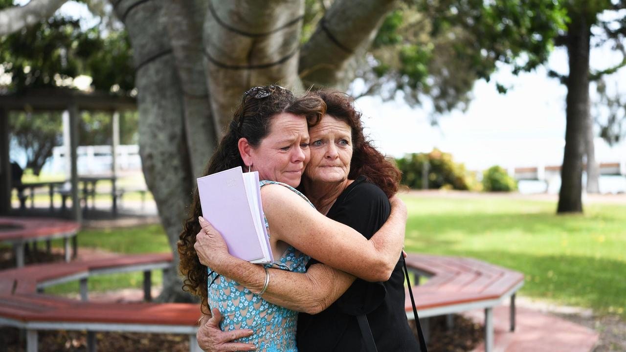 Shae Francis's mother, Cheryl-Lee Francis (right) embraces her sister Janine. Photo: Cody Fox / File