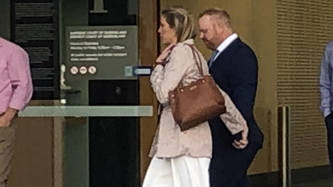 Benjamin Joseph Hogan, 40, leaves Brisbane Supreme Court this morning.