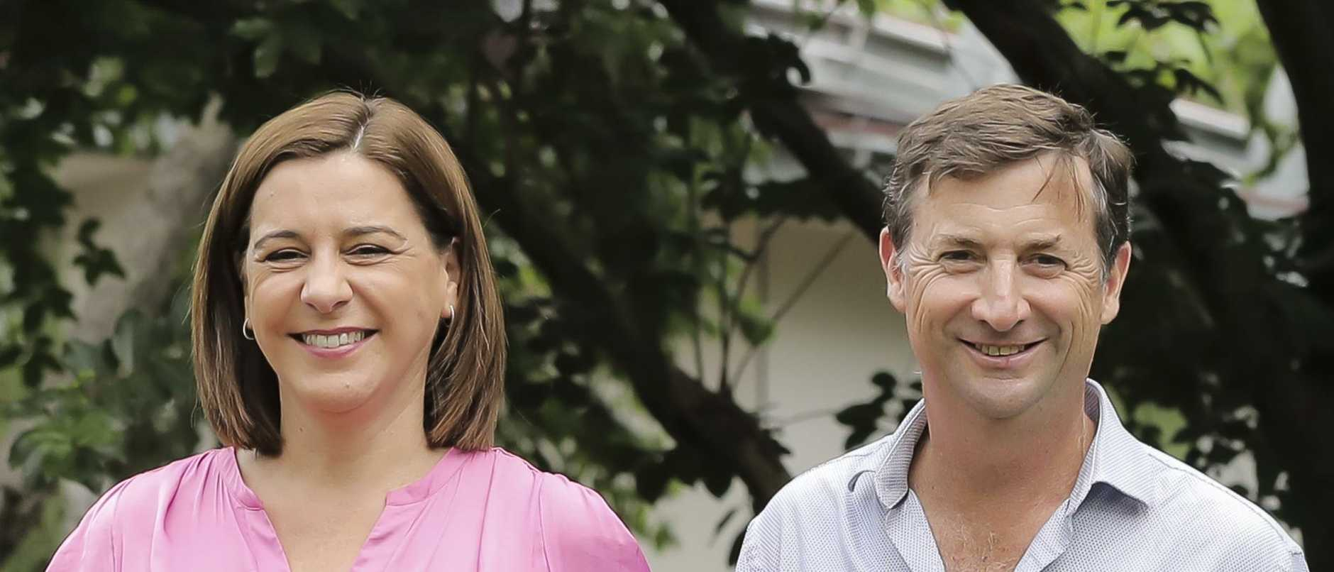 Deb Frecklington's husband is working for the proponent of a dam project the LNP has pledged to provide $10m to as part of its election campaign commitments.