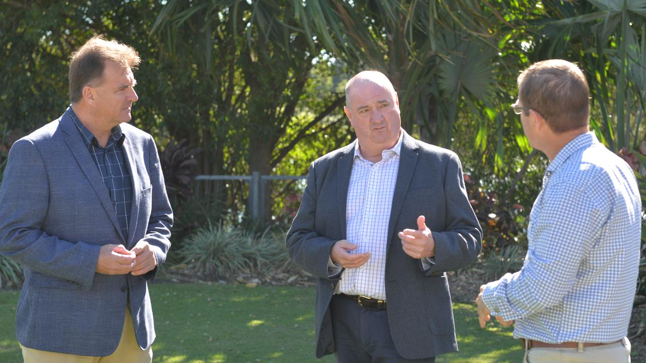 Burnett MP Stephen Bennett, Queensland LNP Energy spokesman Michael Hart and Bundaberg MP David Batt met on Wednesday to reiterate the party's plan to cut power bills in regional Queensland.