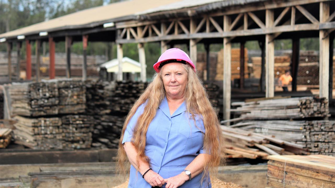 PUSHING THROUGH: General manager of J Notaras and Sons, Donna Layton, has been guiding the timber mill through some challenging times.