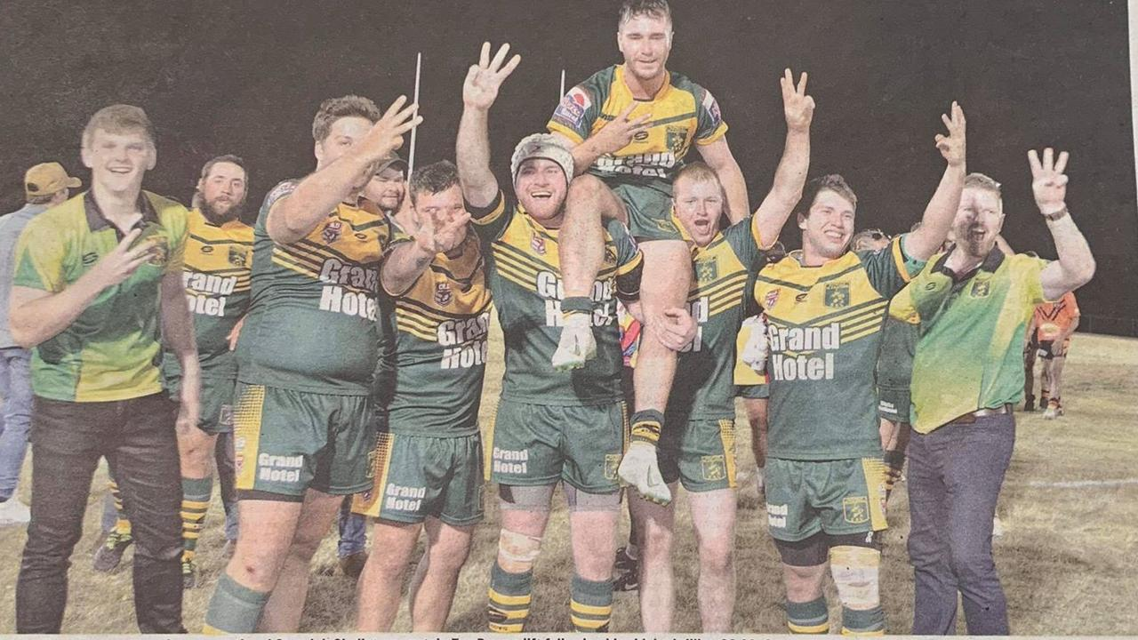 PREMIERS: The Gayndah Gladiators secured a threepeat in the 2019 Central Rugby League Grand Final.