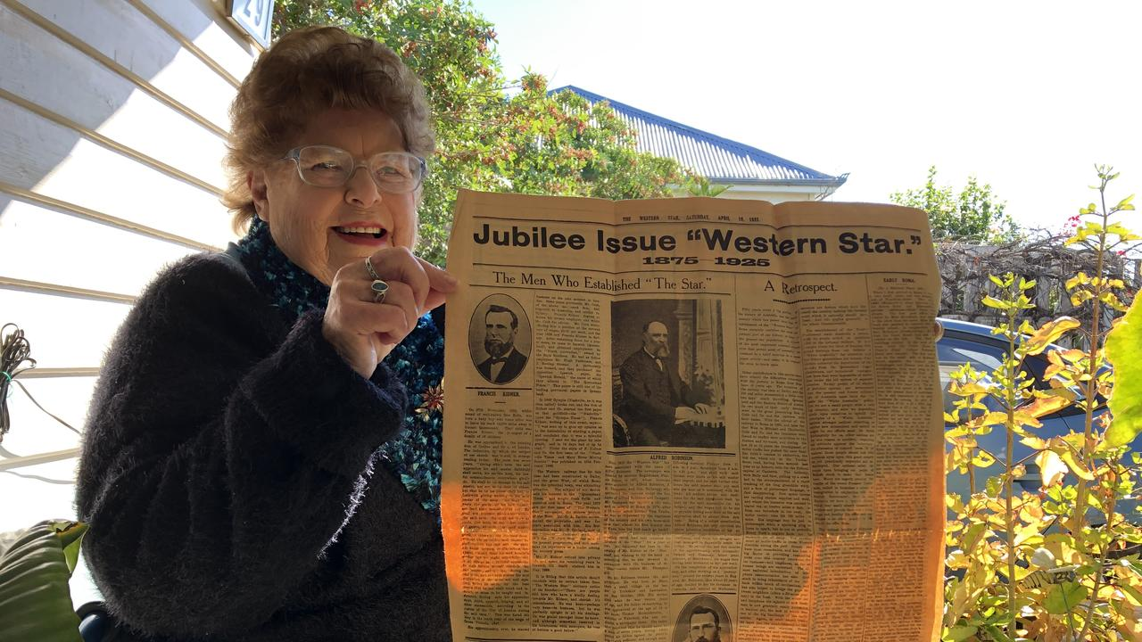 Gloria Limpus' great grandfather Cornelius Galloway was an owner of The Western Star, purchasing the paper in 1879 along with J.H. Thompson (aka Michael Jordan). She knew little of the connection until she moved to Roma in her early twenties as a governess.