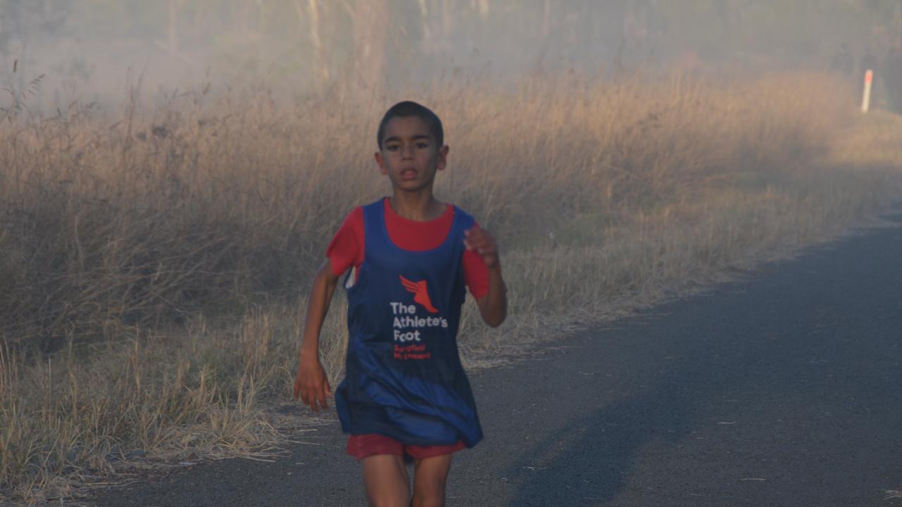 WORLD RECORD: Joshua Williams at Wondai Parkrun. (Picture: Claudia Williams)