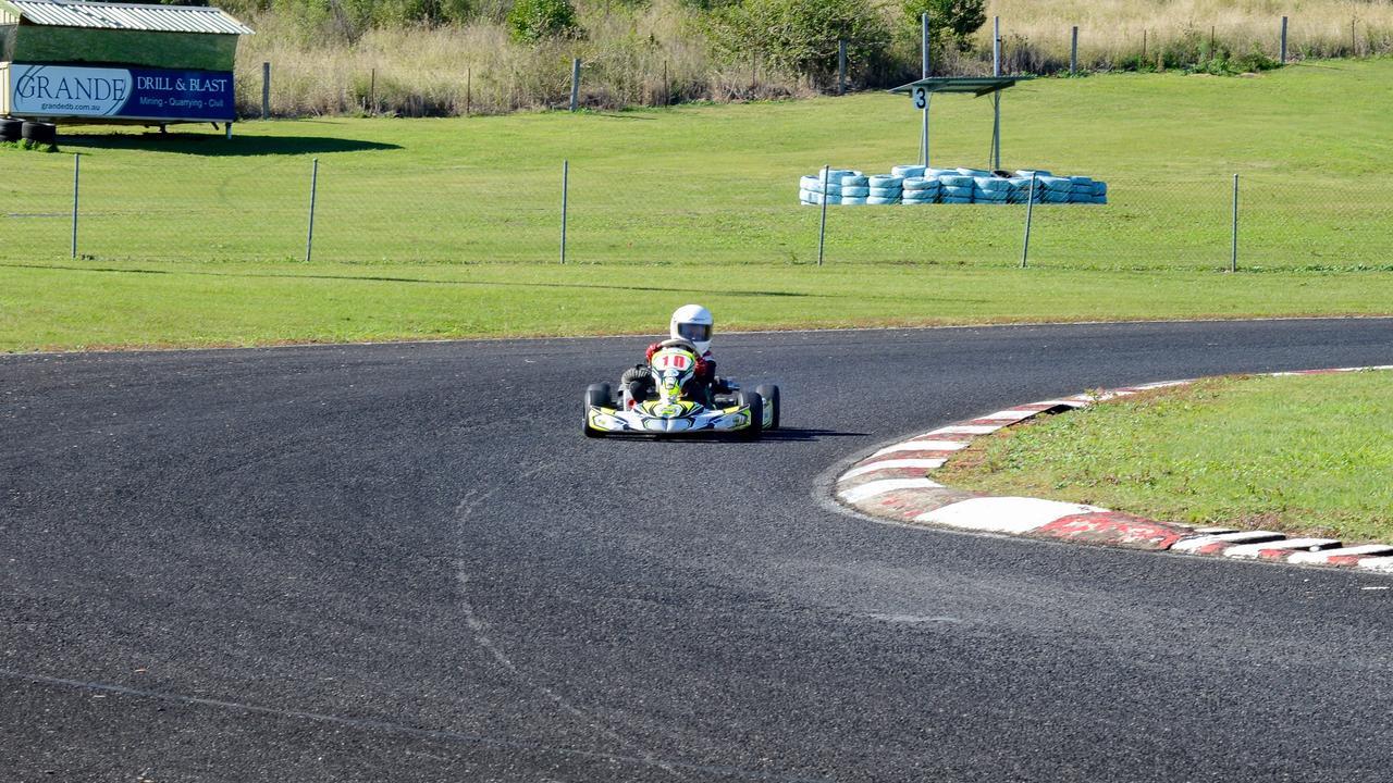 HEARTS RACING: New kart racer Riley Grande on the track at Lismore Kart Club.