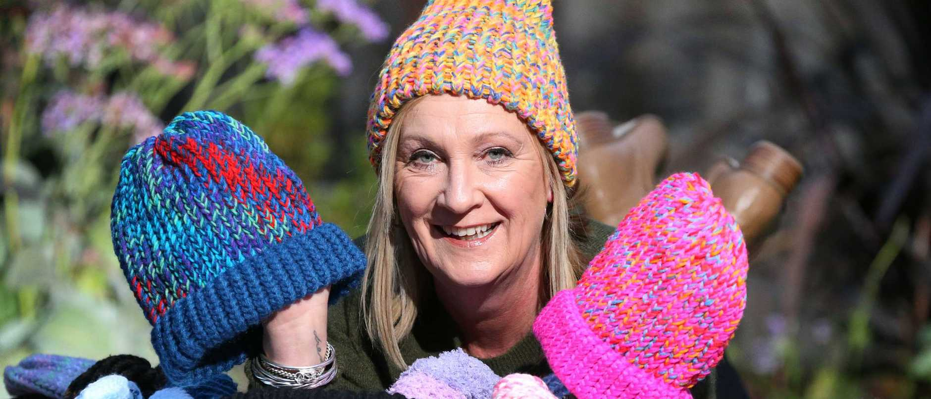 For months Cindy Keay and her friends have been knitting hundreds of warm, woolly hats to help homeless people survive the bitter winter.