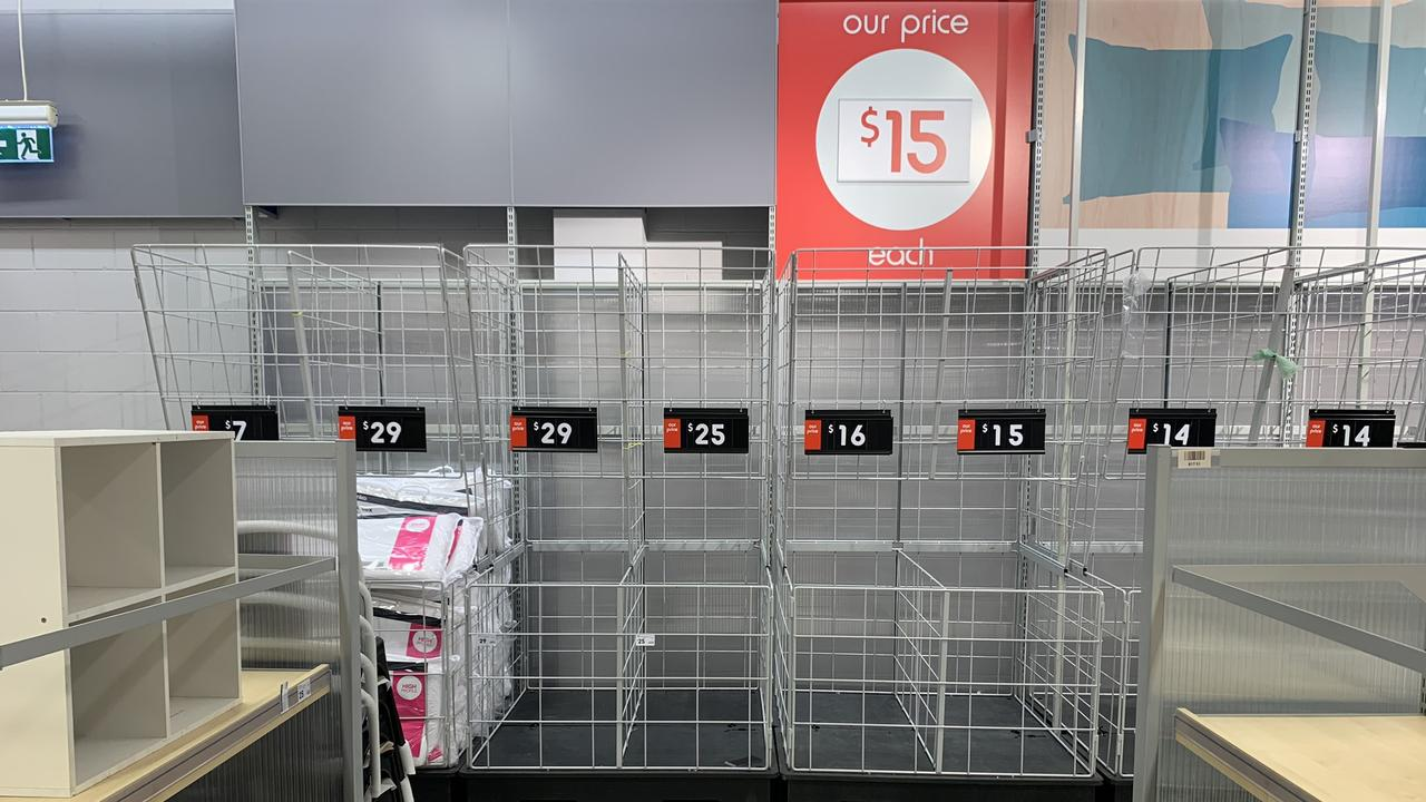 Kmart and other departments tors have had similar issues with stock. Pictures: Benedict Brook/news.com.au