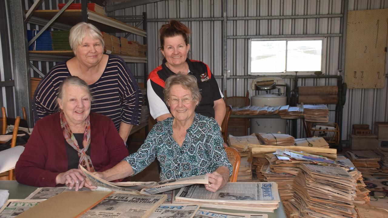 Mary Granne, Julie Crowley, Alicia Pidgeon, and Daun Clapperton from the Nanango History Room. Photo: Madeline Grace