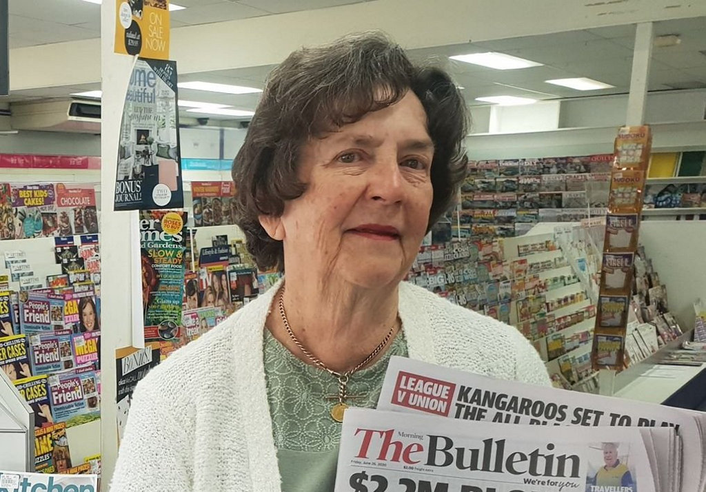 Image for sale: SAYING GOODBYE: Local resident Jean Ramm said she's read the Morning Bulletin for 60 years and will be sad to see the newspaper go.