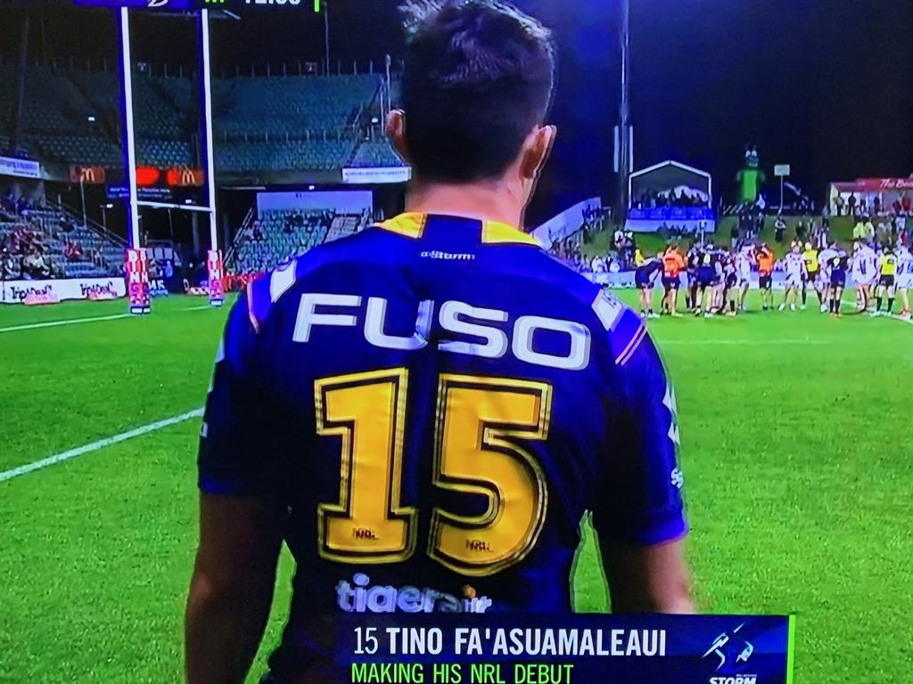 Our very own Tino Fa'asuamaleaui makes his debut for the Melbourne Storm in 2019, in 2020 he scored his first try.