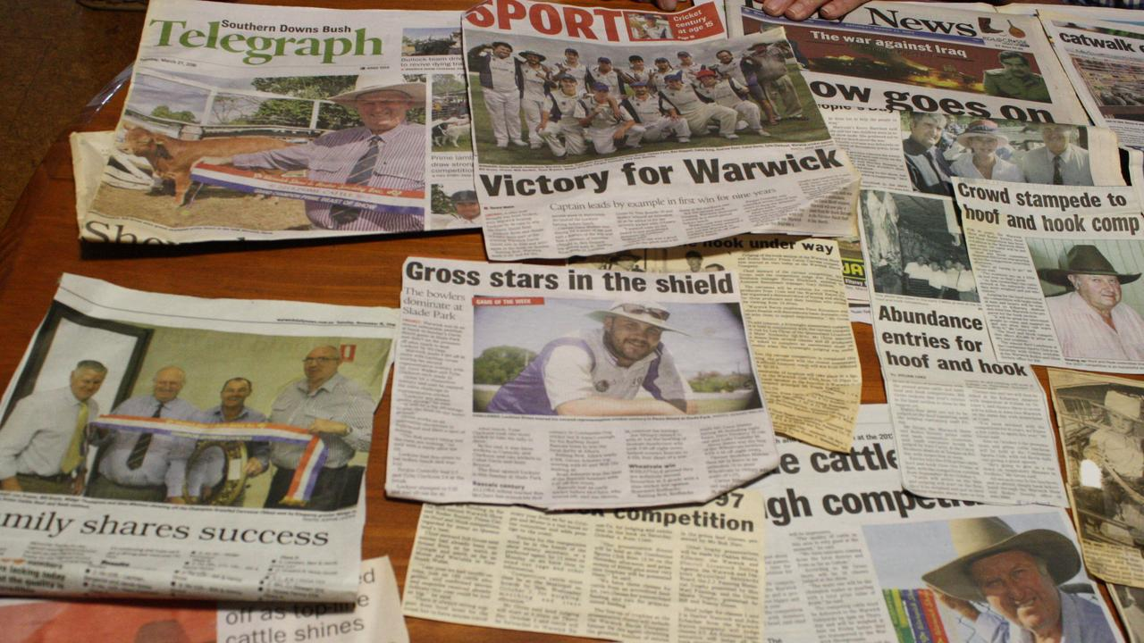 Thousands of clippings cover the couple's kitchen table.