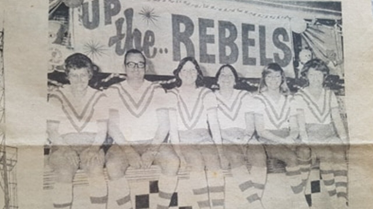 South Grafton Rebels fans picture a week before the 1977 grand final against the Grafton Ghosts. Photo from Robert Lawrence
