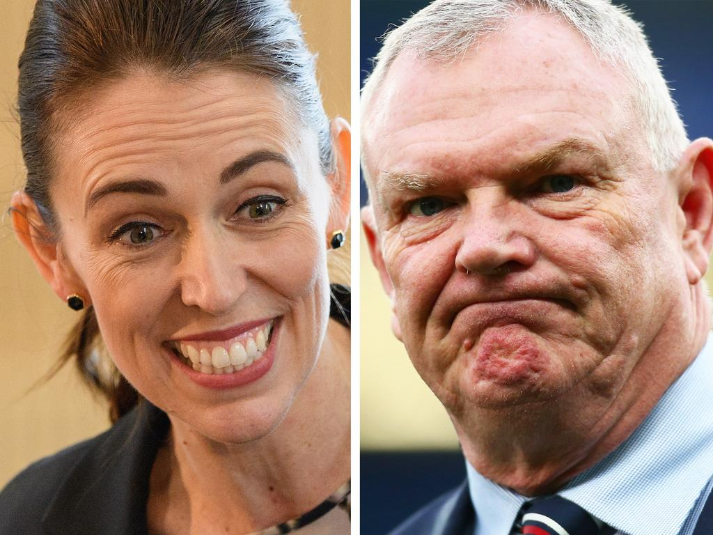 New Zealand Prime Minister Jacinda Ardern and FA chairman Greg Clarke. (Photo by Kai Schwoerer/Getty Images)