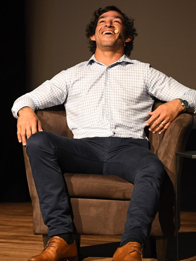 Johnathan Thurston enjoys himself while he is in Gympie.
