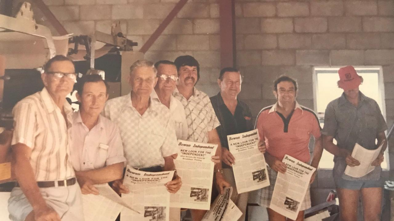 (From left) Darwen family members Henry, Jim Jnr, Jim Snr, Claude and his son Bill, Roy, Neil Carvolth (son of senior partners) and Stephen (son of Henry).